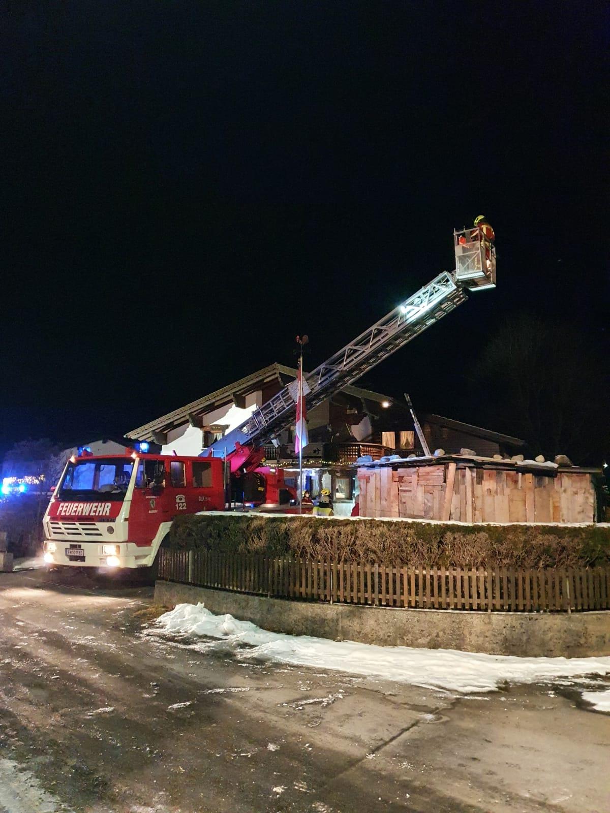 Kaminbrand – Nachbarschaftshilfe Lorüns