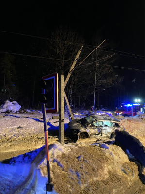 Verkehrsunfall Bahnübergang Lorüns / St. Anton