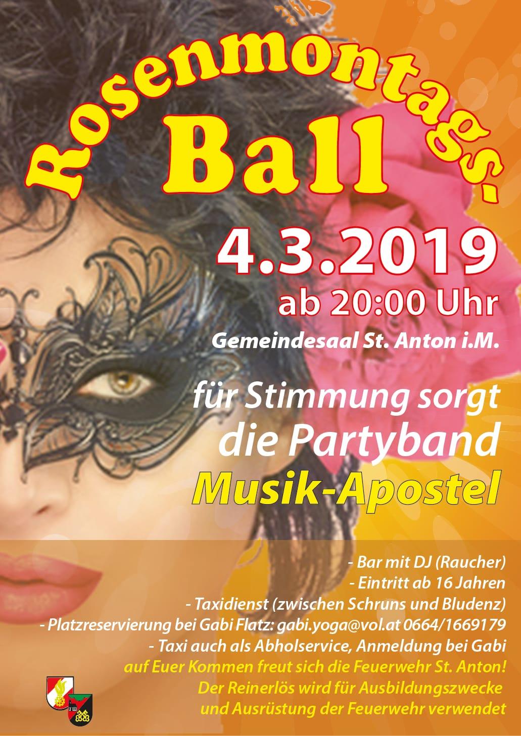 Rosenmontagsball 2019