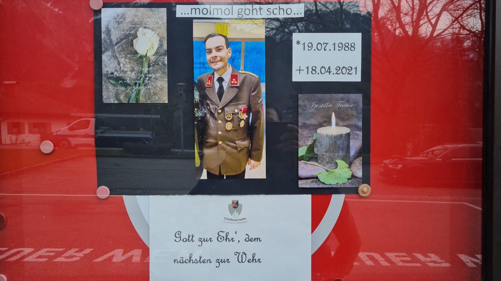 Wir trauern um unseren Kommandanten Vonderleu Mathias